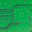 A close-up of a green microprocessor — Stock Photo