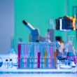 Foto Stock: Colorful laboratory tools