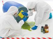 Déchets toxiques de baril — Photo