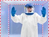 Firm advisement regarding contamination — Stock Photo