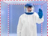 Advisement regarding contamination — Stock Photo