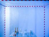 Glassware prepared for experimenting in the lab — Stock Photo