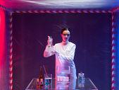 Woman scientist with bio hazardous product — Stock Photo