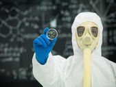 Studying microorganisms in the lab — Stock Photo