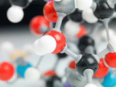 Three dimensional representation of molecular structure — Stock Photo