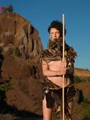 Female indigenous warrior — Stock Photo