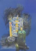 Brennende kerzen, pastell, zeichnung — Stockfoto
