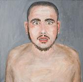 Amazed man, oil painting — Stock Photo