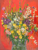 Fantastic flower bouquet, oil painting — 图库照片