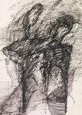 Negro tinta de dibujo abstracta — Foto de Stock