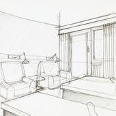 Detalle de la habitación del hotel — Foto de Stock