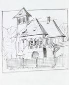 Stary dom z tradycyjnych dekoracji — Zdjęcie stockowe