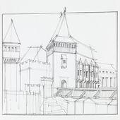 Il castello medievale di hunedoara, romania — Foto Stock
