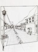 Calle peatonal — Foto de Stock