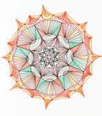 Mandala star shape design — Stock Photo