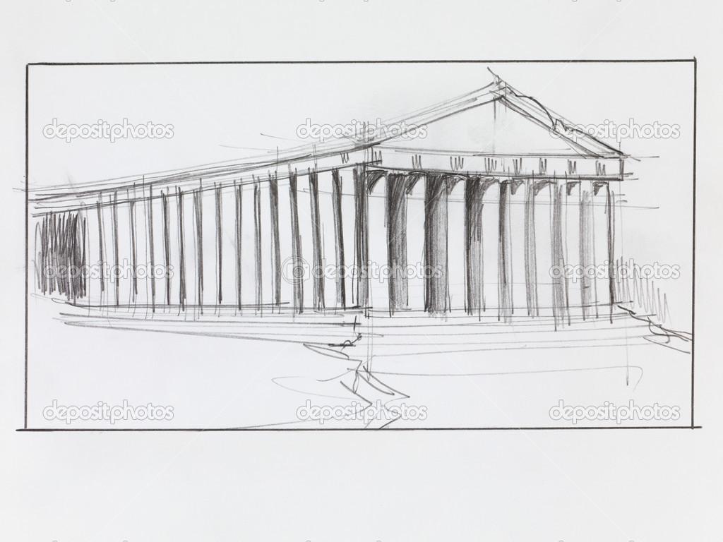 Templo de Partenón griego — Foto de stock © shotsstudio #50397319