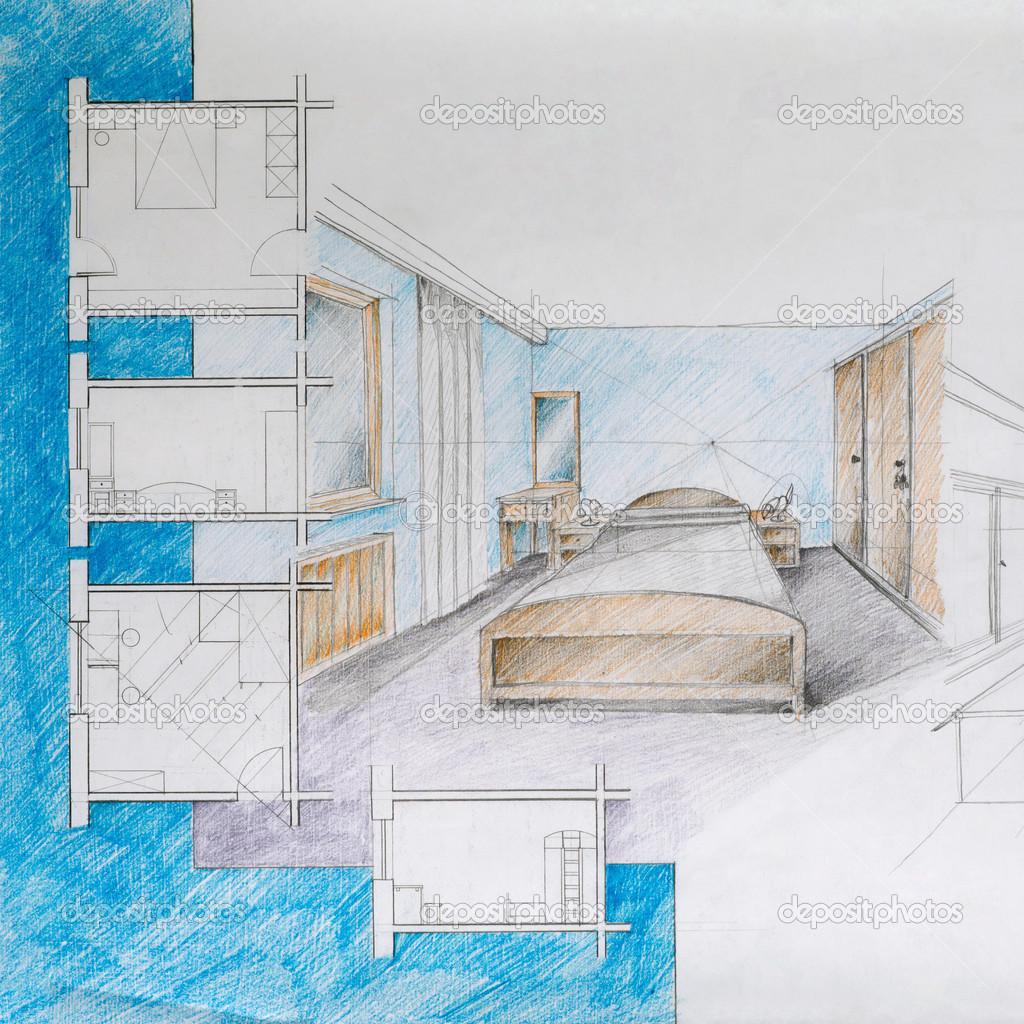 Cianografia della camera da letto appartamento foto for Disegni della camera da letto della spiaggia