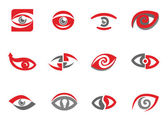 Set of eye emblems — Stock Vector