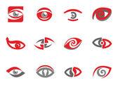 Set of eye emblems — Stock Vector