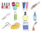 Manicure icons set — Stock Vector