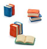 Handmade clay books — Stock Photo