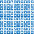 Set of 100 icons for each day - Vektorgrafik