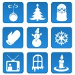 Christmas and New Year icon set — Stock Vector #4515148