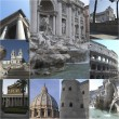 Rome and its monuments - Stock Photo