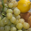 Stock Photo: Pecorino with grapes
