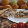 Variety of Italian food — Stockfoto