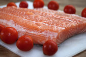 Raw salmone fillet — Stockfoto