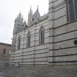 Side facade of SienCathedral — Stockfoto #38130993