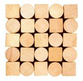Pilha de madeira serrada — Foto Stock