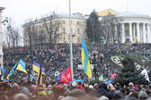 Demonstrations at the Maidan Nezalezhnosti in Ukraine — Stock Photo