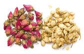 Jasmine and rose dry buds — Stock Photo