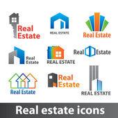 Real estate ikony — Stock vektor