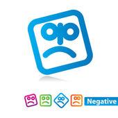 Negative — Stock Vector