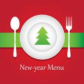New-year meny — Stockvektor