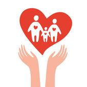 Tomar-cuidados-de-família — Vetorial Stock