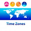 Stock Vector: Time-zones