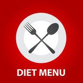 Diet-menu — Stock Vector