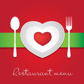 爱餐厅的菜单 — 图库矢量图片