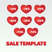 Sale-template — Stock Vector