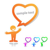 Sample-text-with-love — Stock Vector
