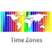 Time-zones-world — Stock Vector