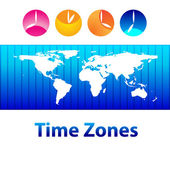 Time-zones — Stock Vector