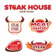 Steak — Stock Vector