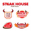 Stock Vector: Steak