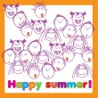Happy-summer-holiday — Stock Vector