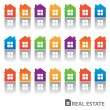 Real-estate-homes — Stock Vector